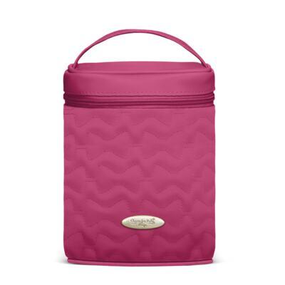 Imagem 5 do produto Mala Maternidade para bebe + Bolsa Liverpool + Frasqueira Térmica Melrose + Térmica Firenze + Trocador Laços Matelassê Pink - Classic for Baby Bags