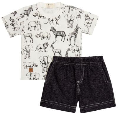 Imagem 1 do produto Camiseta com Bermuda em fleece Safari - Petit