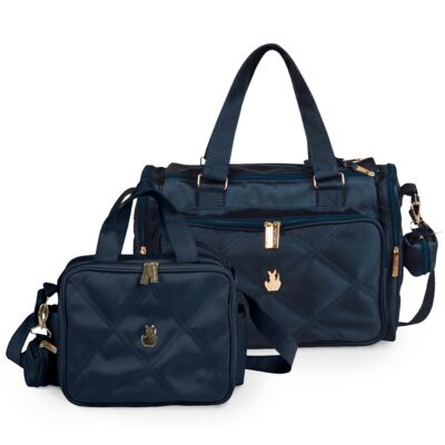 Imagem 1 do produto Bolsa para bebe Anne + Frasqueira térmica organizadora Classic Marinho - Masterbag