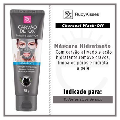Imagem 2 do produto Máscara Facial RK by Kiss - Charcoal Wash-Off - 75g