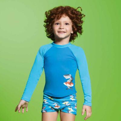 Imagem 5 do produto Conjunto de banho Tubarão: Camiseta + Sunga - Puket - KIT PK TUBARAO Camiseta + Sunga Tubarao-6