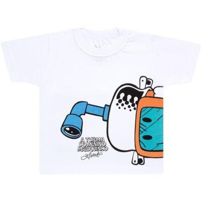 Imagem 2 do produto Conjunto de Banho Maluquinho Mergulhador: Camiseta + Sunga - Cara de Criança - KIT1-1308: SB1308 SUNGA + CCA1308 CAMISETA PIRATA MALUQUINHO-1
