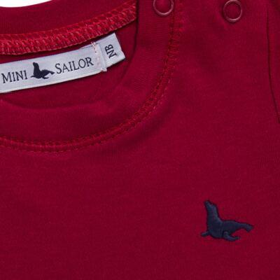 Imagem 2 do produto Body longo em cotton touch Vermelho - Mini Sailor - 01074263 BODY M/L BASICO SUEDINE VERMELHO -6-9