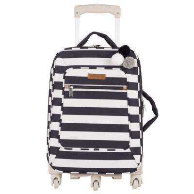 Imagem 2 do produto Mala Maternidade com rodízio + Bolsa Kate + Bolsa Everyday Brooklyn Black and White - Masterbag