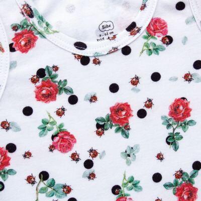 Imagem 3 do produto Regata com Cobre Fralda para bebe em algodão egípcio Ladybug - Bibe - 38G02-G45 CJ Curto Regata c/ Cobre Fralda Floral-G