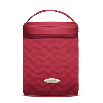 Imagem 5 do produto Mala Maternidade para bebe + Bolsa Liverpool + Frasqueira Térmica Melrose + Térmica Firenze + Trocador Laços Matelassê Cereja - Classic for Baby Bags