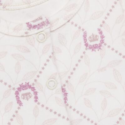 Imagem 2 do produto Body longo aberto para bebe em algodão egípcio Coroinhas - Bibe - 40A11-H10 BD ML AB FRENTE COROAS-G