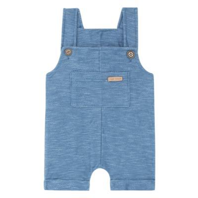 Imagem 1 do produto Jardineira para bebe em fleece Jeans Azul - Time Kids - TK5116.AZ JARDINEIRA JEANS AZUL-P