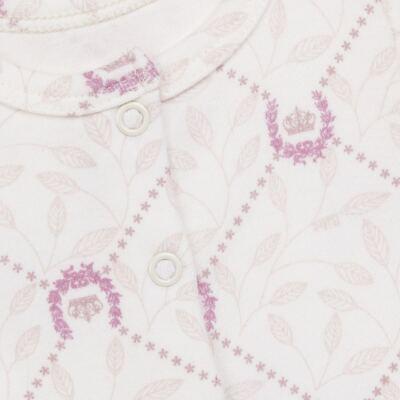 Imagem 2 do produto Body longo aberto para bebe em algodão egípcio Coroinhas - Bibe - 40A11-H10 BD ML AB FRENTE COROAS-M