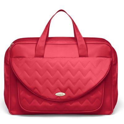 Imagem 2 do produto Mala Maternidade para bebe + Bolsa Turin + Frasqueira Térmica Trento + Térmica Firenze + Kit Acessórios Chevron Rubi - Classic for Baby Bags