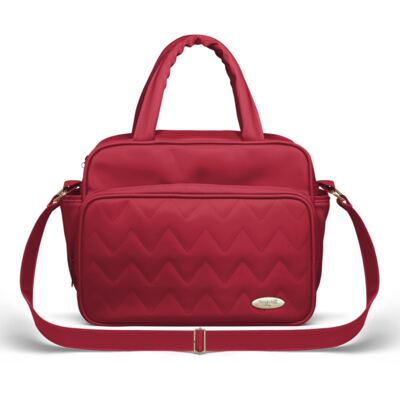 Imagem 4 do produto Mala Maternidade para bebe + Bolsa Turin + Frasqueira Térmica Trento + Térmica Firenze + Kit Acessórios Chevron Rubi - Classic for Baby Bags