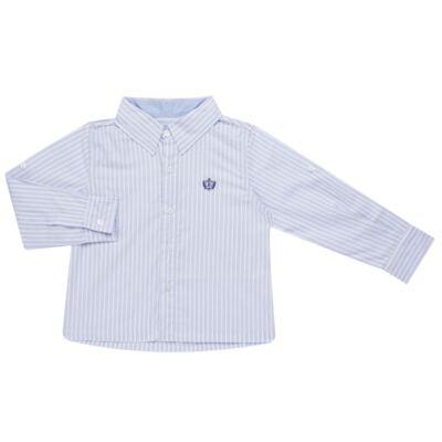 Imagem 1 do produto Camisa para bebe em tricoline Stripes - Bibe - 38N02-G70 CAMISA MASC ML -4