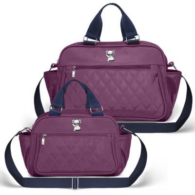 Imagem 1 do produto Bolsa maternidade para bebe Martinica + Frasqueira Térmica Guadalupe Colors Grape - Classic for Baby Bags