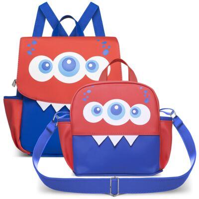 Imagem 1 do produto Kit Mochila + Lancheira Monstrinhos  - Cara de Criança