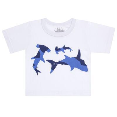 Imagem 2 do produto Camiseta com Bermuda em tactel Shark - Cara de Criança - KIT 1 2311 CCA+BT TUBARAO-1