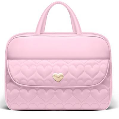 Imagem 1 do produto Mala maternidade para bebe Corações Matelassê Rosa - Classic for Baby Bags - BBCB9024 MALA VIAGEM CORAÇÕES NITEX ROSA