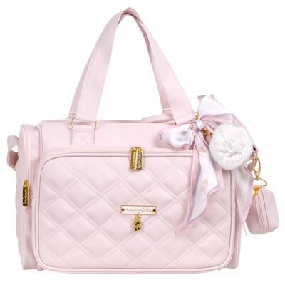 Imagem 3 do produto Mala Maternidade com Rodízio + Bolsa Anne + Bolsa térmica organizadora + Necessaire Ballet Rosa - Masterbag