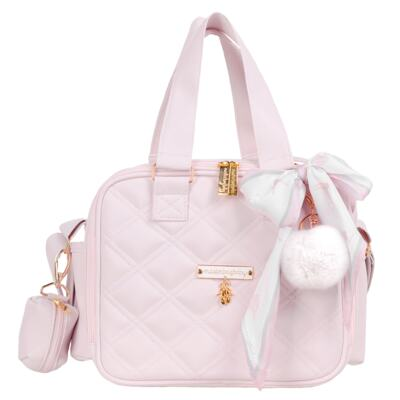Imagem 4 do produto Mala Maternidade com Rodízio + Bolsa Anne + Bolsa térmica organizadora + Necessaire Ballet Rosa - Masterbag