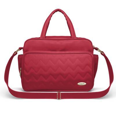 Imagem 3 do produto Mala Maternidade para bebe + Bolsa Turin + Frasqueira Térmica Trento Chevron Rubi - Classic for Baby Bags