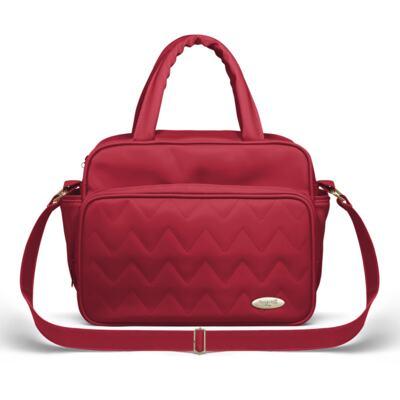 Imagem 4 do produto Mala Maternidade para bebe + Bolsa Turin + Frasqueira Térmica Trento Chevron Rubi - Classic for Baby Bags