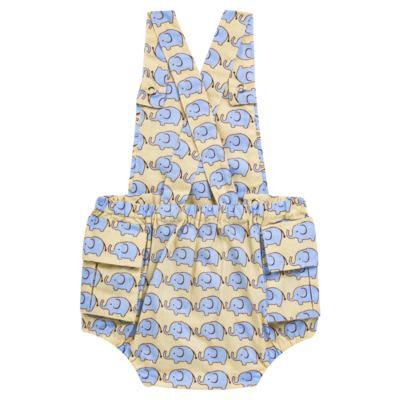 Imagem 2 do produto Jardineira para bebe em tricoline Little Elephant - Roana - JB000883005 JARDINEIRA BABY 4320 BEGE-G