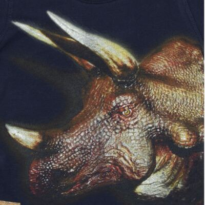 Imagem 2 do produto Camiseta longa em malha Tricerátopo - CDC Tshirt