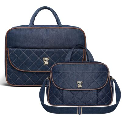 Imagem 1 do produto Mala Maternidade para bebe + Bolsa para viagem Astúrias  Golden Denim Mooca  - Classic for Baby Bags