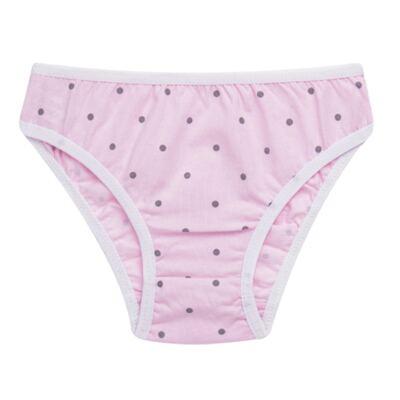 Imagem 4 do produto Kit com 3 Calcinhas Pink Polka Dots - Cara de Criança - KC2403 KIT POA KC3 KIT CALCINHAS 3 PCS M/MALHA-PP