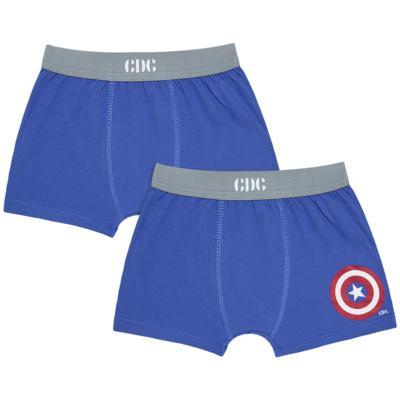 Imagem 1 do produto Kit com 2 Cuecas Boxer Captain America - Cara de Criança - KK2221 BIEL AMERICA KK2 KIT CUECA 2PÇS M/MALHA-G