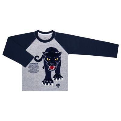 Imagem 2 do produto Pijama longo que Brilha no Escuro Panther - Cara de Criança - L2289 PANTERA L PJ LONGO M/MALHA -2