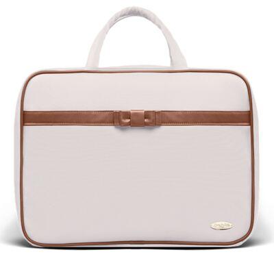 Imagem 2 do produto Kit Mala Maternidade + Bolsa Viagem Oxford + Frasqueira Térmica Kent + Kit Acessórios + Trocado Portátil Laço Caramel Caqui - Classic for Baby Bags