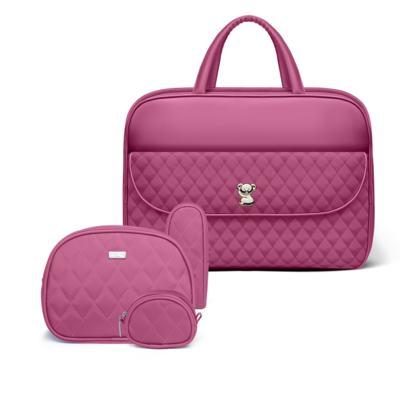 Imagem 1 do produto Kit Mala Maternidade para bebe + Kit Acessórios Colors Pink - Classic for Baby Bags