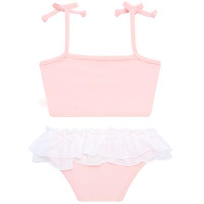 Imagem 6 do produto Conjunto de Banho Ballet: Camiseta + Biquíni + Tiara - Cara de Criança - KIT1-1268: BB1268 BIQUINI + CCAB1268 CAMISETA BAILARINA-M