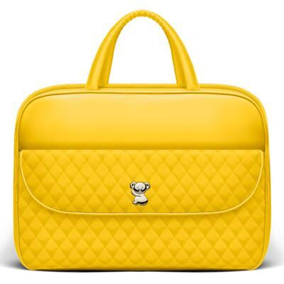 Imagem 2 do produto Kit Mala Maternidade para bebe + Bolsa Havana + Frasqueira Térmica Aruba + Trocador Portátil Colors Yellow - Classic for Baby Bags