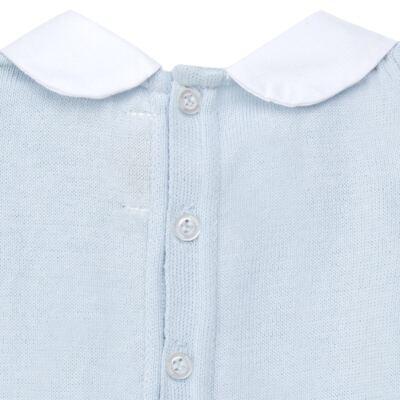 Imagem 4 do produto Jogo Maternidade com Macacão e Manta em tricot Bleu - Petit - 47104420 Jogo Maternidade c/ Gola Tricot/Fus Azul -RN