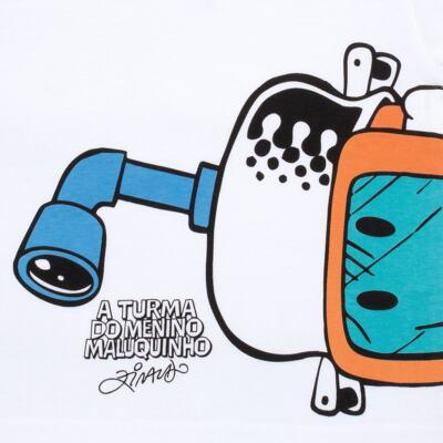 Imagem 3 do produto Conjunto de Banho Maluquinho Mergulhador: Camiseta + Sunga - Cara de Criança - KIT1-1308: SB1308 SUNGA + CCA1308 CAMISETA PIRATA MALUQUINHO-6