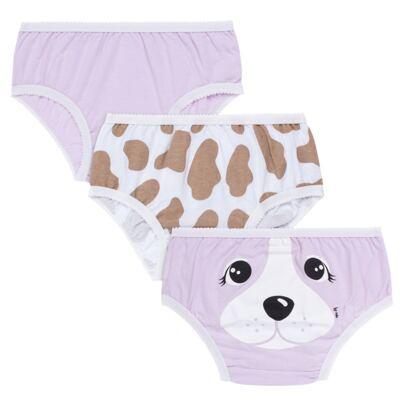 Imagem 1 do produto Kit com 3 Calcinhas em malha Pet Dog - Cara de Criança - KC2217 Pet Menina KC3 Kit Calcinhas 3 pçs M/Malha -M