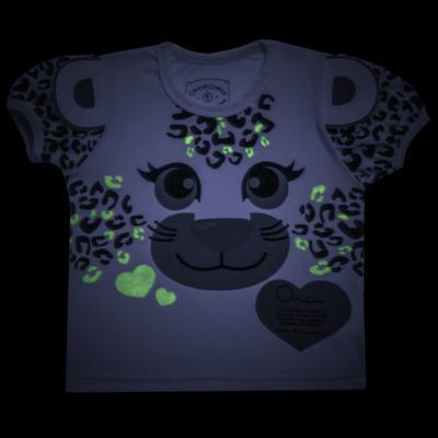 Imagem 5 do produto Pijama curto que Brilha no Escuro Onça Pintada - Cara de Criança - U1820 ONCA PINTADA PIJAMA-CURTO M/MALHA -2