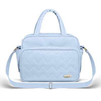 Imagem 4 do produto Mala Maternidade para bebe + Bolsa Turin + Frasqueira Térmica Trento Chevron Topázio - Classic for Baby Bags