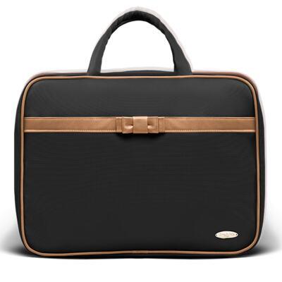Imagem 2 do produto Kit Mala Maternidade + Bolsa Viagem Oxford + Frasqueira Térmica Kent Laço Caramel Preto - Classic for Baby Bags