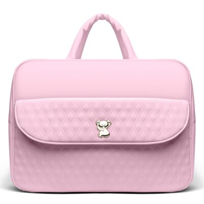 Imagem 2 do produto Kit Mala Maternidade para bebe + Bolsa Veneza + Frasqueira Térmica Milão + Kit Acessórios + Trocador Golden Koala Rosa - Classic for Baby Bags