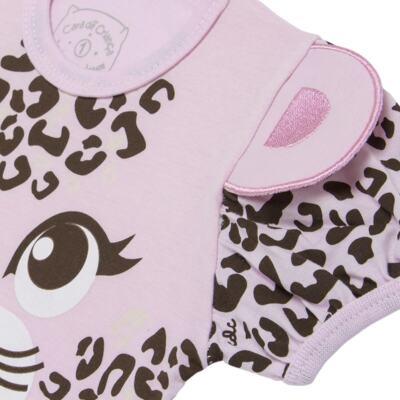 Imagem 4 do produto Pijama curto que Brilha no Escuro Onça Pintada - Cara de Criança - U1820 ONCA PINTADA PIJAMA-CURTO M/MALHA -3