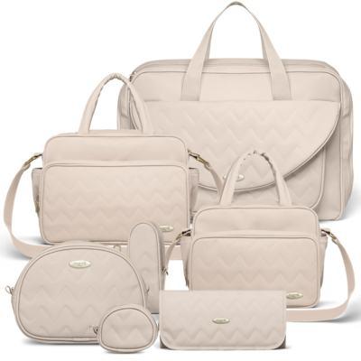 Imagem 1 do produto Mala Maternidade para bebe + Bolsa Turin + Térmica Trento +  Térmica Firenze + Kit Acessórios Chevron Ágata - Classic for Baby Bags