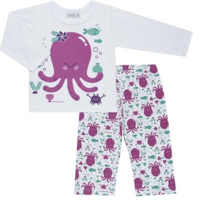 Imagem 1 do produto Pijama longo em malha Polvinha - Cara de Sono - L1994 POLVA L PJ-LONGO M/MALHA -3