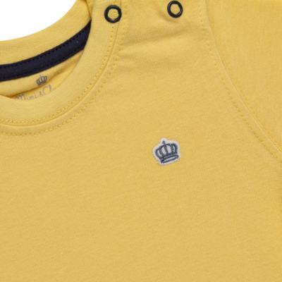 Imagem 2 do produto Camiseta em malha Amarela - Mini & Classic - 6003672 CAMISETA MC MALHA AMARELA-2