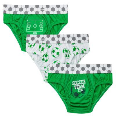 Imagem 1 do produto Kit com 3 Cuecas para bebe em malha Soccer Team - Cara de Criança - KK2299 Kit Futebol KK3 Kit Cueca 3 pçs M/Malha-PP