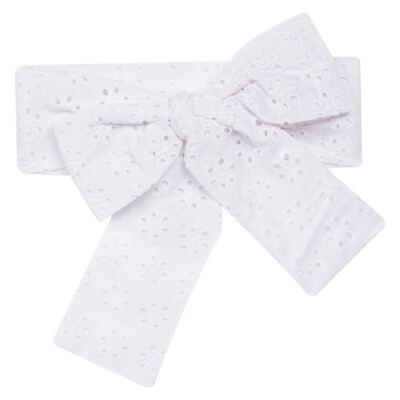 Imagem 3 do produto Conjunto de banho para bebê Coração & Pérolas: Bumbum + Faixa de Cabelo - Roana - BASTL927001 BANHO DE SOL TURBANTE LUXO 125 BRANCO-G