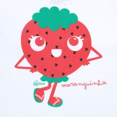Imagem 3 do produto Conjunto de Banho Strawberry: Camiseta + Biquíni - Cara de Criança - KIT2-1253: B1253 BIQUINI + CCA1253 CAMISETA MORANGUINHO-3