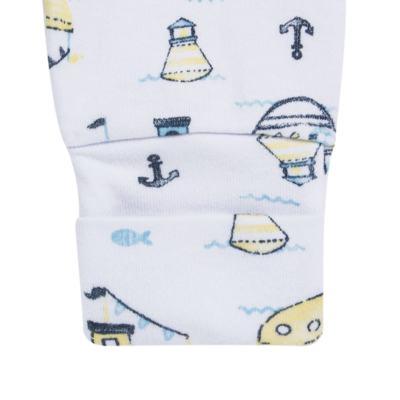 Imagem 3 do produto Pack 2 mijões para bebe com pé reversível em algodão egípcio c/ jato de cerâmica Summer Boats - Mini & Classic - 1025666 PACK 2 MIJOES SUEDINE SUMMER-P