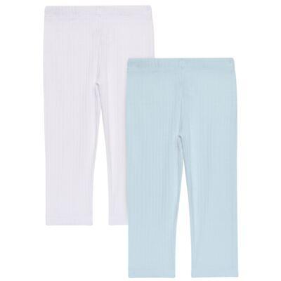 Imagem 1 do produto Pack 2 Mijões para bebe Sleep Comfort Azul/Branco - Vicky Lipe - 10180001.31 PACK 2 MIJOES SEM PÉ - SUEDINE-2